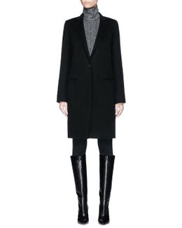'essential' Wool-cashmere Melton Coat