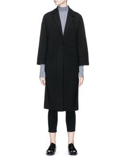 'melisandre B' Wool Blend Knit Coat