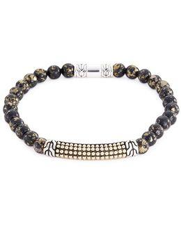 Apache Gold Bead 18k Yellow Gold Silver Bracelet