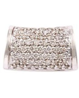 Diamond Silver Barrel Charm