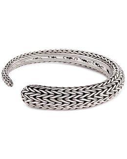 Silver Chain Effect Cuff