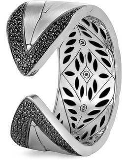 Sapphire Silver Chain Effect Cuff