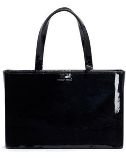 Boxy Patent Lambskin Leather Bag