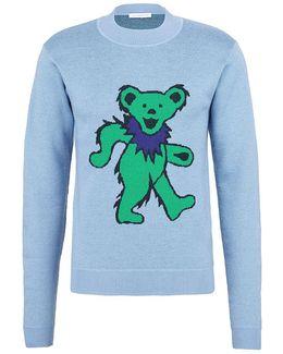 Bear Jacquard Merino Wool Unisex Sweater