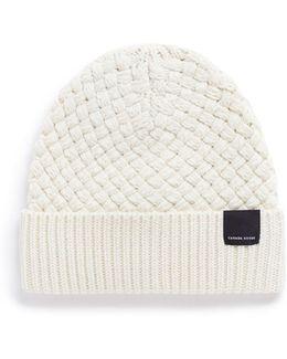 'basket Stitch' Merino Wool Toque