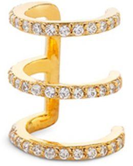 '3coil' Diamond 14k Gold Single Ear Cuff