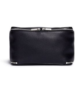 Fold Out Leather Travel Pouch