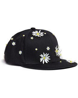 Swarovski Crystal Embellished Daisy Baseball Cap