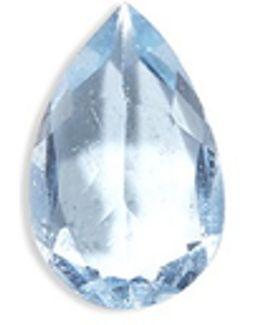 Birthstone Charm - March 'be Brave' Aquamarine
