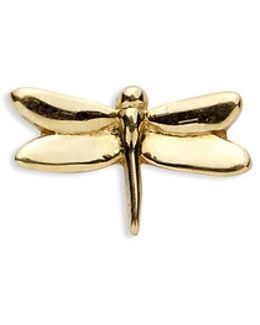 18k Yellow Gold Dragonfly Charm - Strength