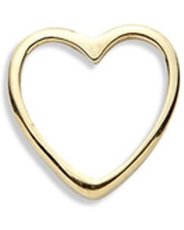 18k Yellow Gold Heart Charm - With Love