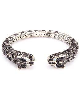 Sapphire Topaz Silver Double Macan Cuff