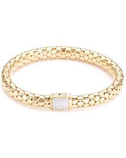Diamond 18k Yellow Gold Dotted Bracelet