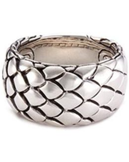 Sterling Silver Scaly Cobra Ring