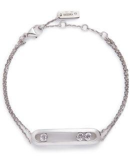 'move' Diamond 18k White Gold Bracelet