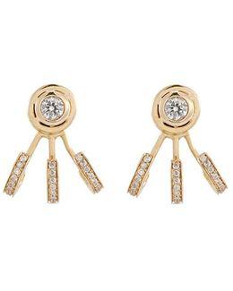 'trilogy' Diamond 14k Yellow Gold Earrings