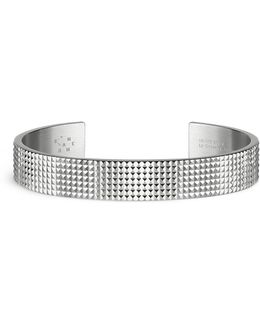 'guilloché Le 33 Grammes' Stud Sterling Silver Cuff