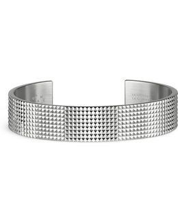 'guilloché Le 41 Grammes' Stud Sterling Silver Cuff