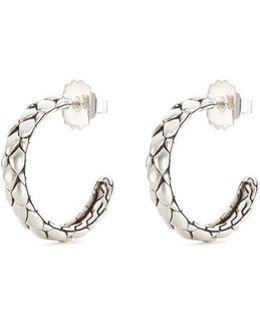 Silver Small Cobra Hoop Earrings