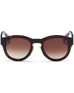 Oversized Tortoiseshell Acetate Sunglasses