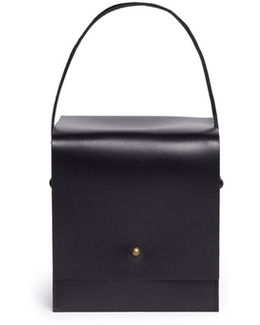 Leather Box Crossbody Bag