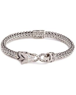 Diamond Topaz Silver Macan Bracelet
