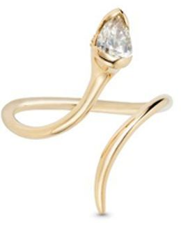 Sprout' Diamond 18k Gold Open Ring