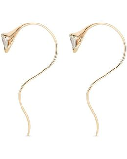 'sprout' Diamond 18k Gold Small Earrings