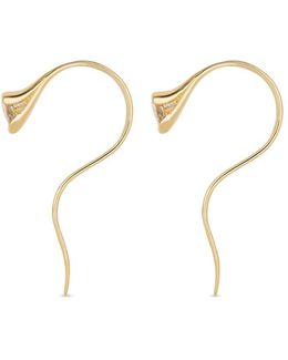 Sprout' Diamond 18k Gold Large Earrings