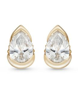 'bloom' Diamond 18k Gold Mini Stud Earrings