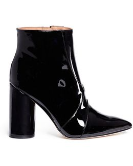 'knox' Point Toe Patent Leather Boots