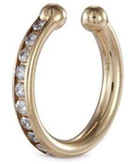 'channel Orbital Hoop' Diamond 14k Yellow Gold Single Ear Cuff