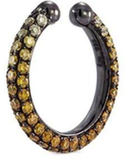 'pave Orbital Hoop' Ombré Diamond Rhodium Silver Single Ear Cuff