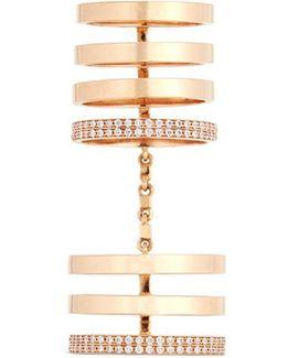 'berbère' Diamond 18k Rose Gold Seven Row Linked Ring