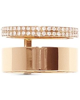 'berbère Module' Diamond Pavé 18k Gold Two Row Ring