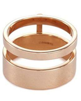 'berbère Module' 18k Rose Gold Two Row Ring