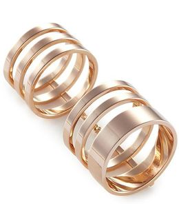 'berbère Module' 18k Rose Gold Six Row Linked Ring