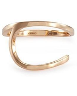 'la Ligne C' 18k Rose Gold Ring
