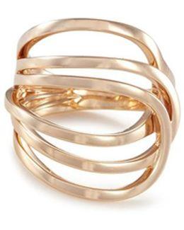 'la Ligne C' 18k Rose Gold Ring