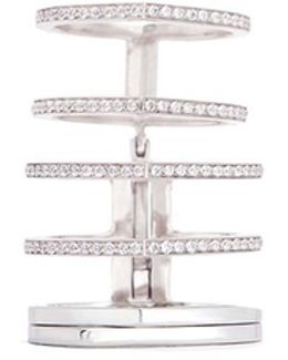 'antifer' Diamond Pavé 18k White Gold Six Row Linked Ring