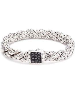 Sapphire Silver Twist Medium Woven Chain