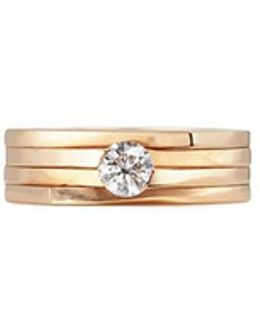 'antifer' Diamond 18k Rose Gold Four Row Teardrop Ring