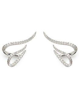 'daisy' Diamond 18k White Gold Earrings