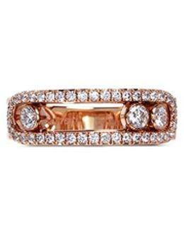 'move Pavé' Diamond 18k Rose Gold Ring