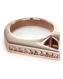 'stackable Jagged Knuckle B' Rose Gold Silver Ring