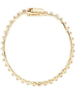 Cubic Zirconia Pavé Pyramid Tennis Bracelet