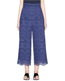 'paradiso' Broderie Anglaise Cropped Pants