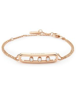 'move' Diamond 18k Rose Gold Bracelet