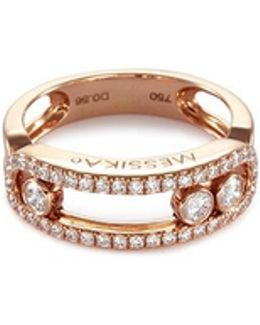 'move Pavée' Diamond 18k Rose Gold Ring