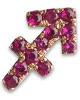 18k Rose Gold Ruby Zodiac Charm - Sagittarius